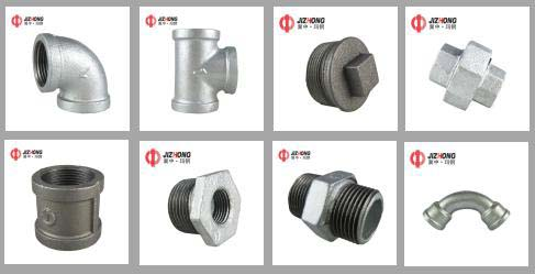 China Malleable iron pipe fittings factory